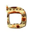 alphabet hebrew passover matzah hebrew letter mem vector image vector image