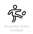australian rules football sport icons vector image vector image