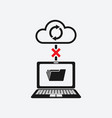 bad connection with cloud storages sync data vector image vector image