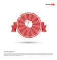 balloons icon - red ribbon banner vector image