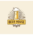 Beer house Brewing company vector image vector image