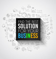 Best Solution for Your Business Slogan over a vector image