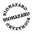 biohazard stamp on white vector image