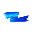 blue paint brush stroke realistic vector image vector image