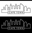 cape town skyline linear style editable file vector image vector image