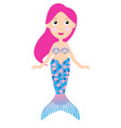 cartoon mermaid vector image vector image