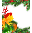 Christmas tree decorations with orange bow vector image vector image