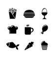 collection food icons vector image