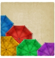 colored umbrellas background vector image vector image