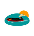 Container Ship Cargo Boat vector image vector image