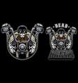dead biker mascot vector image vector image