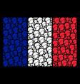 france flag pattern of soldier helmet items vector image