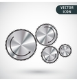 Gear icon isolated vector image vector image
