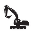 graphic silhouette backhoe