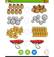 greater less or equal educational puzzle vector image vector image