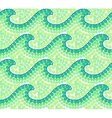 Green dotted waves seamless pattern in Australian vector image