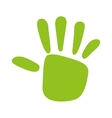 green hand print isolated icon design vector image vector image