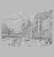 grey hand drawing st petersburg 4 vector image vector image