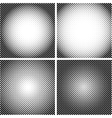 halftone dot textures set a set 4 vector image