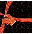 halloween ribbon vector image vector image