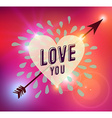 Happy Valentines day heart love vector image vector image