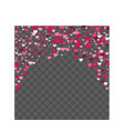 heart confetti beautifully fall on the background vector image vector image