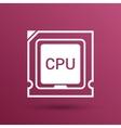 Icon of cpu microprocessor sign symbol process vector image vector image