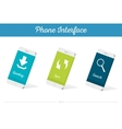 Interface 3D Smartphone Models with Media vector image vector image
