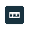 keyboard icon Rounded squares button vector image vector image