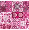 large set colorful vintage ceramic tiles vector image
