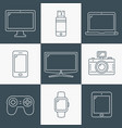 line icons - digital devices vector image vector image