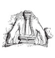 lion sculpture is at gate at mycenae vintage vector image vector image