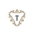 luxury monogram logo template object for vector image vector image