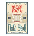 magic new year 2018 vector image vector image