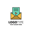 mail message sms video player business logo vector image