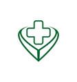 medical logo design icon concept vector image vector image