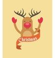 merry christmas animal character holiday december vector image