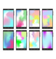 mobile phone set with gradient mesh wallpapers vector image