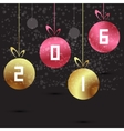 modern 2016 New Year background vector image