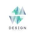 original logo in geometric shape abstract icon