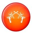 Paintball guns icon flat style