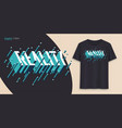 reality graphic t-shirt design typography print vector image vector image