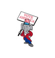 republican elephant mascot vote america cartoon vector image vector image