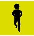 runner avatar design vector image vector image