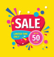 sale concept banner design discount up to 50 vector image vector image