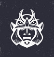 samurai helmet japanese facial armour vector image