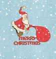 Santa Claus pulling big sack vector image vector image