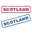 Scotland Rubber Stamps vector image