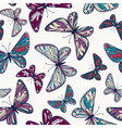 seamless pattern with decorative butterflie vector image vector image