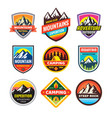 Set of adventure outdoor concept badges summer